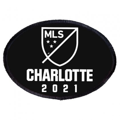 Charlotte Mls 2021 White Style Oval Patch Designed By Ninja Art
