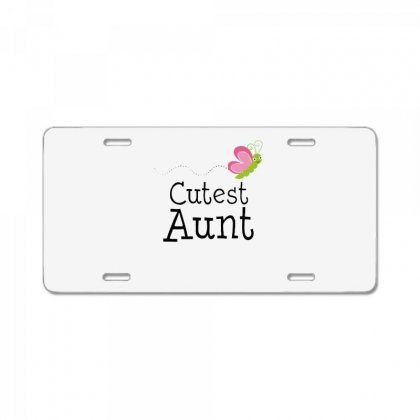 Cutest Aunt License Plate Designed By Hoainv