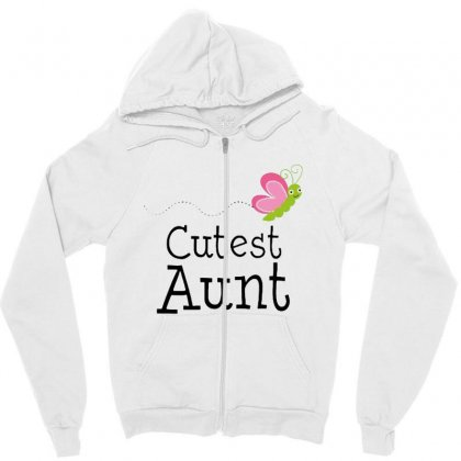 Cutest Aunt Zipper Hoodie Designed By Hoainv
