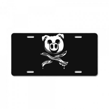 Pig Bacon Cross Bones Pirate License Plate Designed By Funtee
