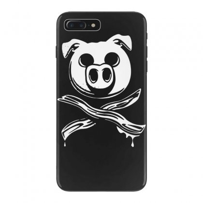 Pig Bacon Cross Bones Pirate Iphone 7 Plus Case Designed By Funtee