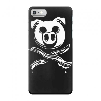 Pig Bacon Cross Bones Pirate Iphone 7 Case Designed By Funtee
