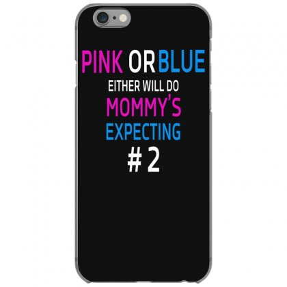 Pink Or Blue Mommy Is Expecting Number 2 New Iphone 6/6s Case Designed By Funtee
