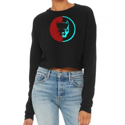 Pitbull Syndicate Logo Dogs Cropped Sweater Designed By Funtee