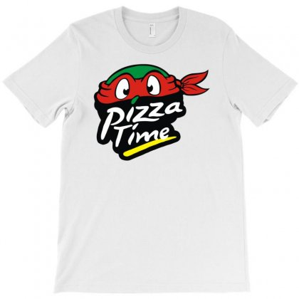 Pizza Time Turlte T-shirt Designed By Funtee