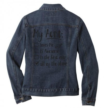 My Aunt To Do List Ladies Denim Jacket Designed By Hoainv