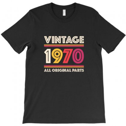 Vintage 1970 Birthday T-shirt Designed By Tasha
