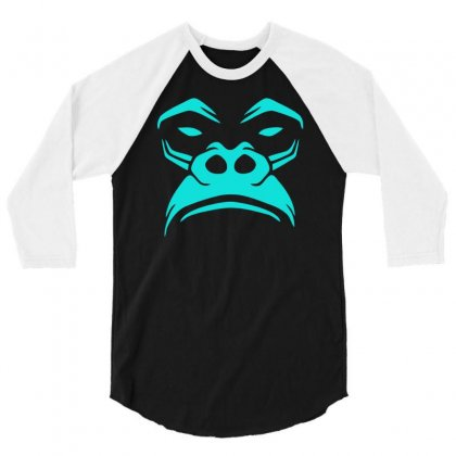 Gorilla Not Very Amused! 3/4 Sleeve Shirt Designed By Sopy4n