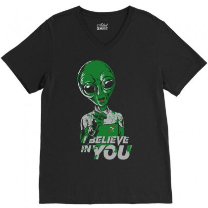 I Believe In You V-neck Tee Designed By Cuser621