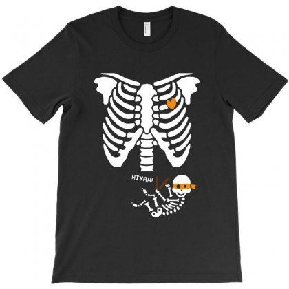 Pregnant Skeleton Baby Costume Halloween Maternity Ninja Ladies T-shirt Designed By Fanshirt