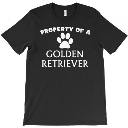 Property Of A Golden Retriever T-shirt Designed By Fanshirt