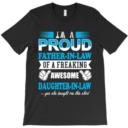 Proud Father In Law T-shirt Designed By Fanshirt