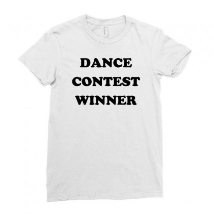 Dance Contest Winner Ladies Fitted T-shirt Designed By Sopy4n
