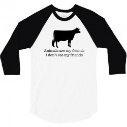 animals are my friends animal rights 3/4 Sleeve Shirt | Artistshot