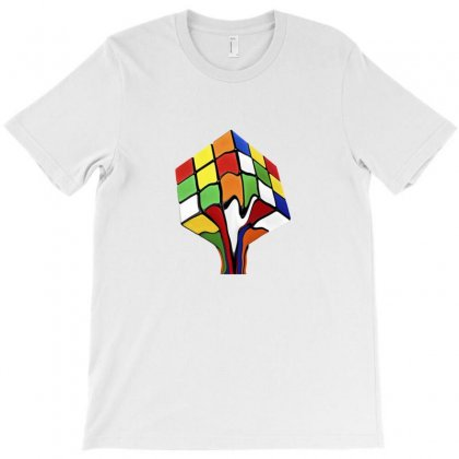 Rainbow Abstraction T-shirt Designed By Arum