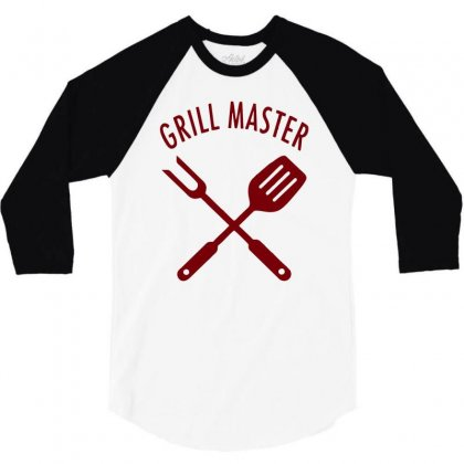 Grill Master 3/4 Sleeve Shirt Designed By Sopy4n