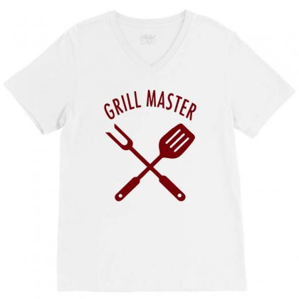 Grill Master V-neck Tee Designed By Sopy4n