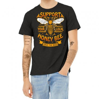 Limited Edition   Support Honey Bee Heather T-shirt Designed By Hoainv