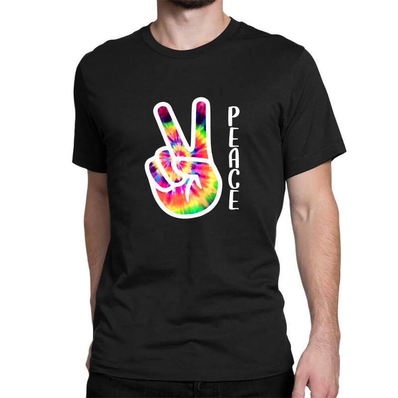 Peace Sign Hand For Dark Classic T-shirt | Artistshot