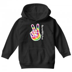peace sign hand for dark Youth Hoodie | Artistshot