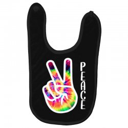 peace sign hand for dark Baby Bibs | Artistshot
