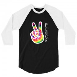peace sign hand for dark 3/4 Sleeve Shirt | Artistshot