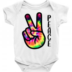 peace sign hand for light Baby Bodysuit | Artistshot