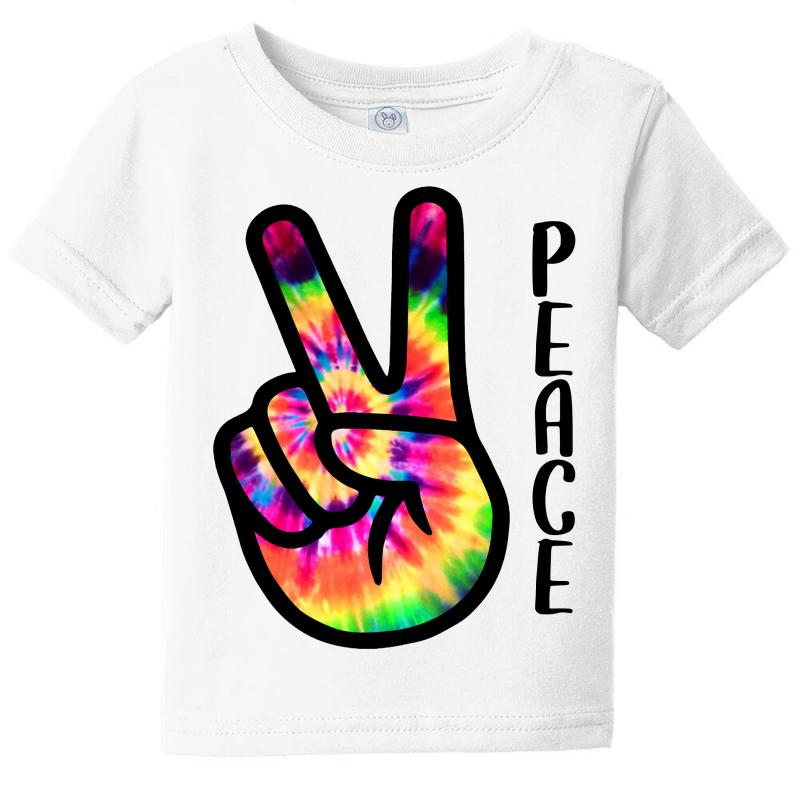Peace Sign Hand For Light Baby Tee | Artistshot