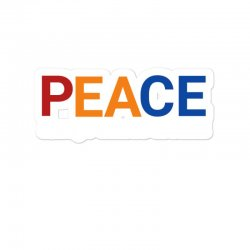 Word Inspiring Peace Always Comes Aroundq Sticker Designed By Jack14