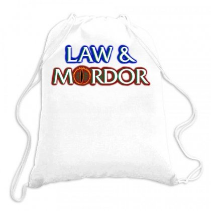 Law And Mordor Drawstring Bags Designed By Alaska Tees