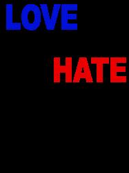love trumps hate vote for hillary | Artistshot