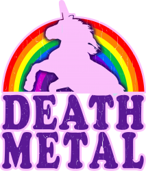 funny death metal unicorn rainbow | Artistshot