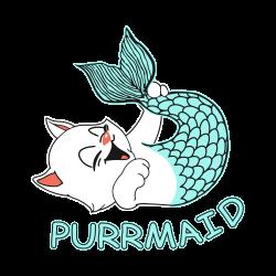 funny purr maid cat mermaid | Artistshot