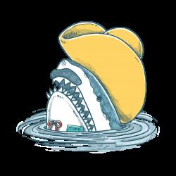 funny hat shark   Artistshot