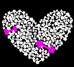 love gym pink dumble | Artistshot