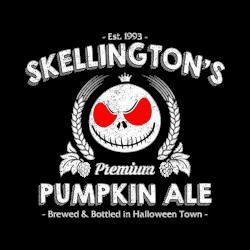 Skellington'spumpkin ale | Artistshot