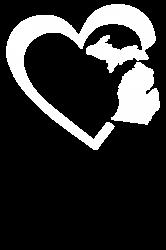 michigan heart love | Artistshot