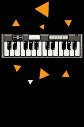 music,keyboard,electronic,piano,triangle,reflections,cute,vectorart, | Artistshot