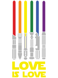 Lightsaber Rainbow - Love Is Love | Artistshot