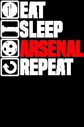 eat sleep arsenal   Artistshot