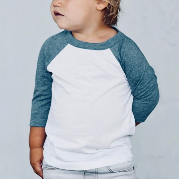 Toddler 3/4 Sleeve Tee  &   Toddler 3/4 Sleeve Tee