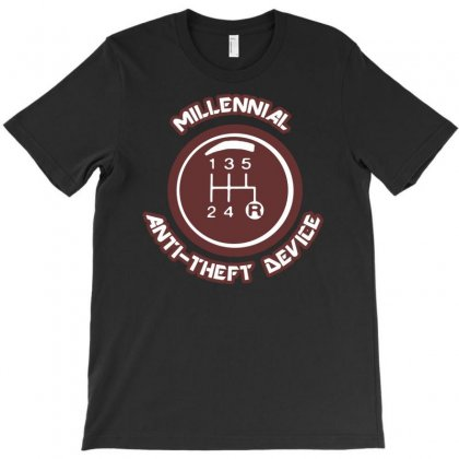 Millennial Anti Theft Device T-shirt Designed By S4poolart