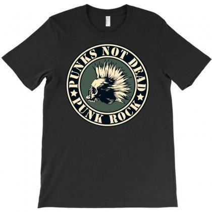 Punks Not Dead T-shirt Designed By S4poolart