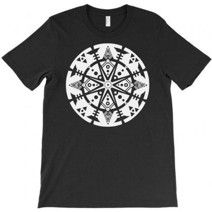 Tribal Shape Reflection T-shirt Designed By S4poolart
