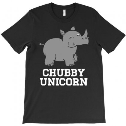 Chubby Unicorn T-shirt Designed By S4poolart