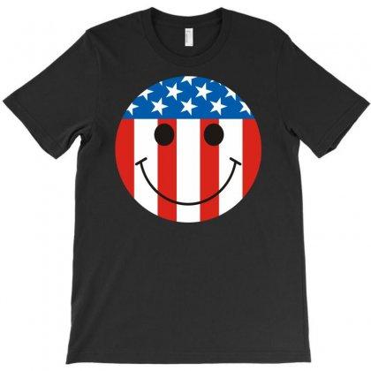 Flag Smile T-shirt Designed By S4poolart