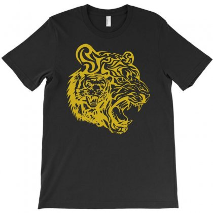 Golden Tigers T-shirt Designed By S4poolart