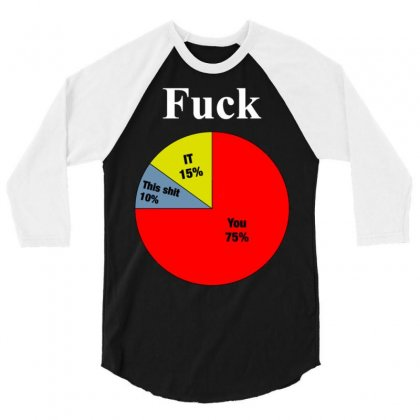 Usage Of The F Word Pie Chart 3/4 Sleeve Shirt Designed By Meid4_art
