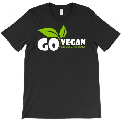 Go Vegan And Saves Animals T-shirt Designed By Nurhidayat05