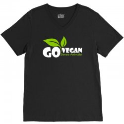 go vegan and saves animals V-Neck Tee | Artistshot